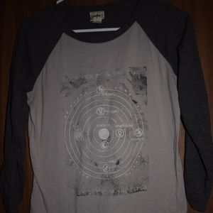 Look for me in the stars Ruched Tee Size M